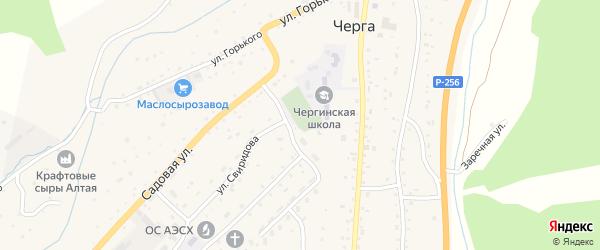 Солнечная улица на карте села Черга с номерами домов