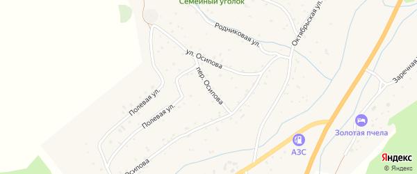 Переулок Осипова на карте села Черга с номерами домов