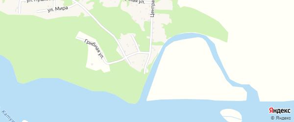 Береговая улица на карте поселка Полеводки с номерами домов