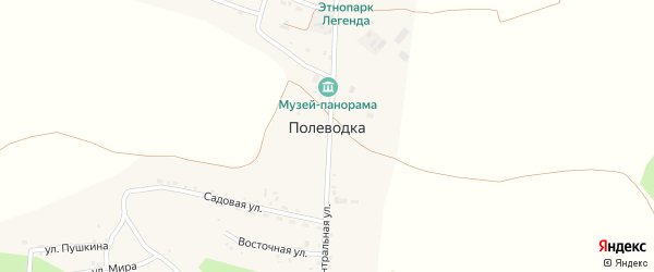 Улица Полеводка на карте поселка Полеводки с номерами домов