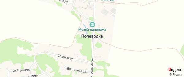 Грибная улица на карте поселка Полеводки с номерами домов