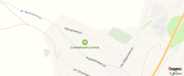 Нагорная улица на карте села Черга с номерами домов