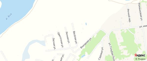 Восточная улица на карте садового некоммерческого товарищества Бийчанки с номерами домов