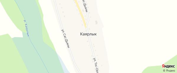 Центральная улица на карте села Каярлыка с номерами домов