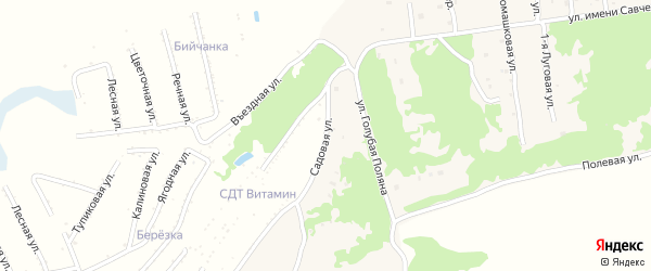 Садовая улица на карте села Ключи с номерами домов
