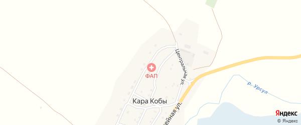 Молодежная улица на карте села Кары Кобы с номерами домов