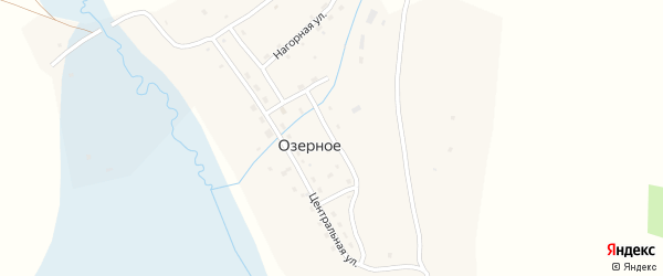 Гаражная улица на карте Озерного села с номерами домов