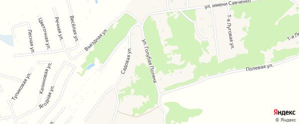 Переулок Голубая Поляна на карте села Ключи с номерами домов