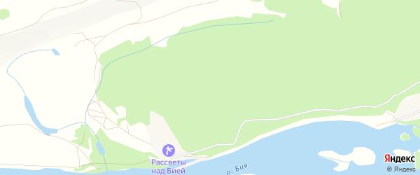 Карта Прибрежного садового некоммерческого товарищества в Алтайском крае с улицами и номерами домов