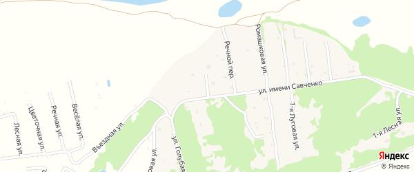 Дружный переулок на карте села Ключи с номерами домов