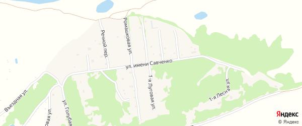Улица им Савченко на карте села Ключи с номерами домов