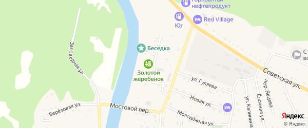 Мостовая улица на карте села Усть-коксы с номерами домов