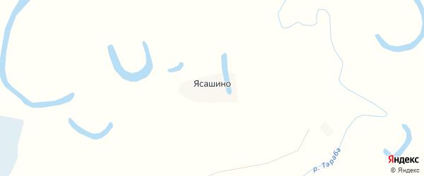 Карта села Ясашино в Алтайском крае с улицами и номерами домов