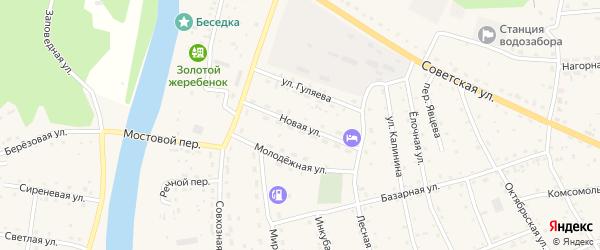 Новая улица на карте села Усть-коксы с номерами домов