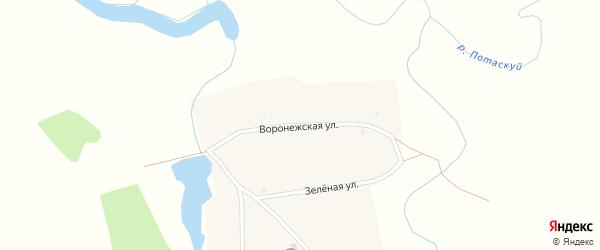 Воронежская улица на карте села Семено-Красилово с номерами домов