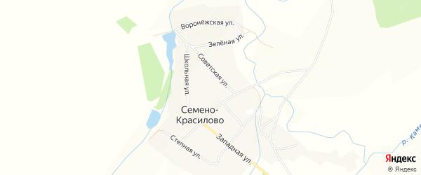 Карта села Семено-Красилово в Алтайском крае с улицами и номерами домов