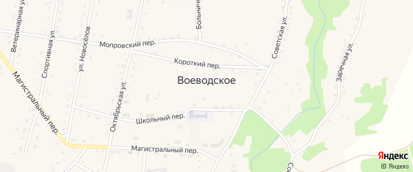 Кооперативный переулок на карте Воеводского села с номерами домов