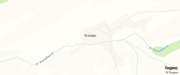 Карта села Усково в Алтайском крае с улицами и номерами домов