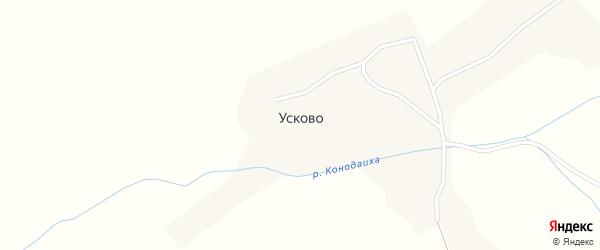 Солнечная улица на карте села Усково с номерами домов