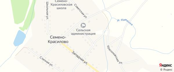 Ивановская улица на карте села Семено-Красилово с номерами домов