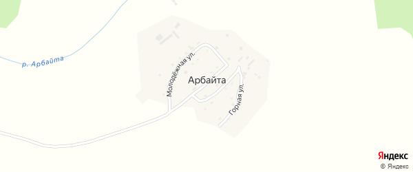 Горный переулок на карте села Арбайты с номерами домов
