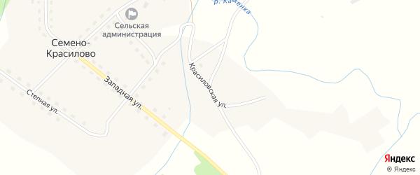 Красиловская улица на карте села Семено-Красилово с номерами домов