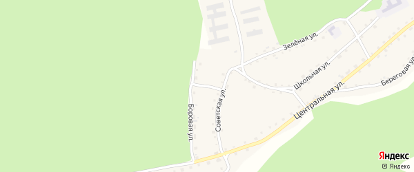 Боровая улица на карте села Стана-Бехтемира с номерами домов