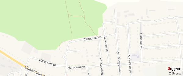 Северная улица на карте села Усть-коксы с номерами домов