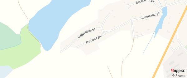 Луговая улица на карте села Верха-Марушки с номерами домов