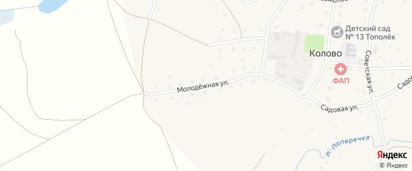 Молодежная улица на карте села Колово с номерами домов