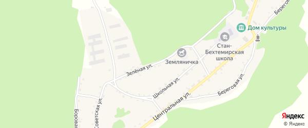 Зеленая улица на карте села Стана-Бехтемира с номерами домов