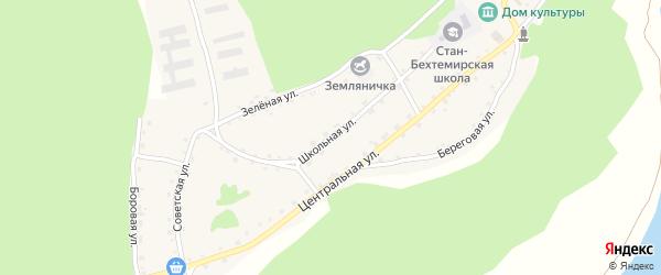 Школьная улица на карте села Стана-Бехтемира с номерами домов
