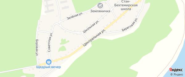 Центральная улица на карте села Стана-Бехтемира с номерами домов