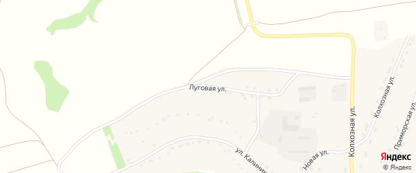 Луговая улица на карте села Стана-Бехтемира с номерами домов