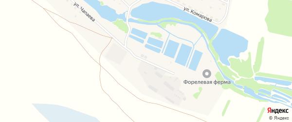 Улица Чапаева на карте поселка Семилетки с номерами домов