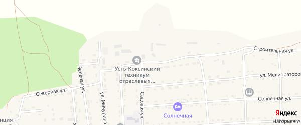 Строительная улица на карте села Усть-коксы с номерами домов