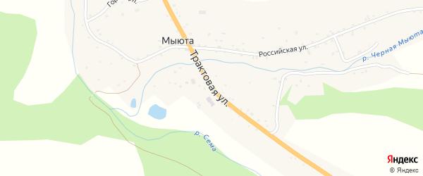 Трактовая улица на карте села Мыюта с номерами домов