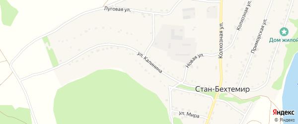 Улица Калинина на карте села Стана-Бехтемира с номерами домов