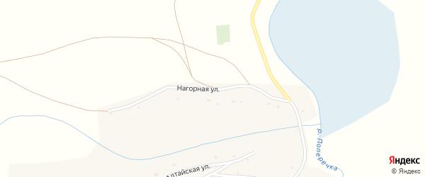 Нагорная улица на карте села Колово с номерами домов
