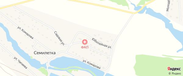 Юбилейная улица на карте поселка Семилетки с номерами домов