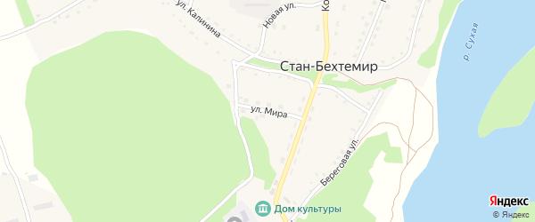 Улица Мира на карте села Стана-Бехтемира с номерами домов