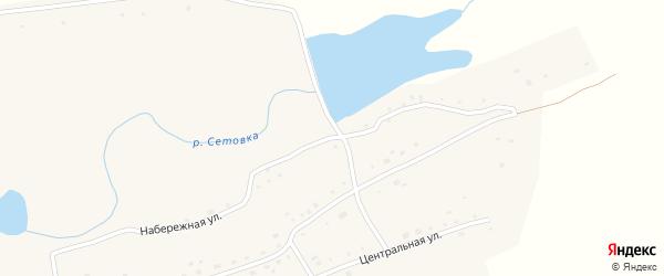 Набережная улица на карте села Половинки с номерами домов