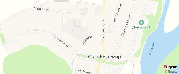 Новая улица на карте села Стана-Бехтемира с номерами домов