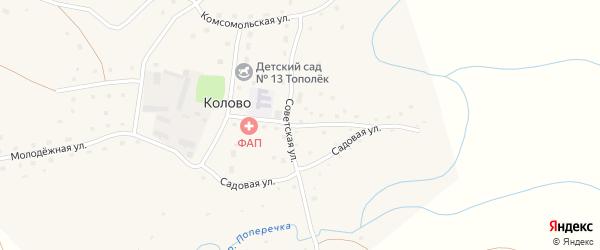 Школьная улица на карте села Колово с номерами домов