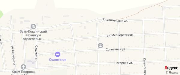 Улица Мелиораторов на карте села Усть-коксы с номерами домов
