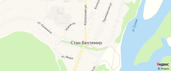 Колхозная улица на карте села Стана-Бехтемира с номерами домов