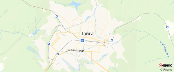 Карта Тайги с районами, улицами и номерами домов