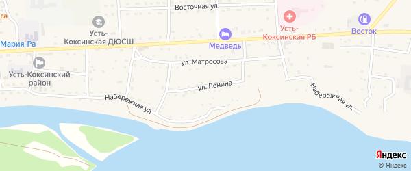 Улица Ленина на карте села Усть-коксы с номерами домов