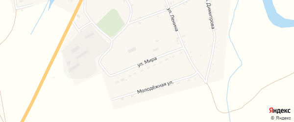 Улица Мира на карте села Верха-Марушки с номерами домов