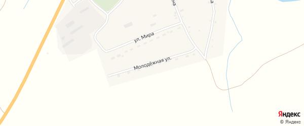 Молодежная улица на карте села Верха-Марушки с номерами домов